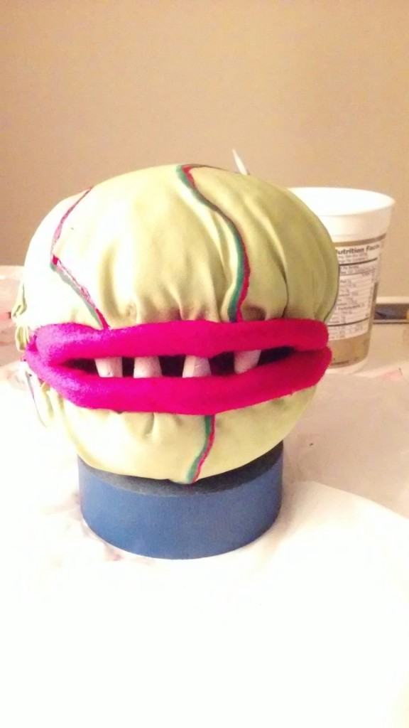 Audrey II with skin and teeth
