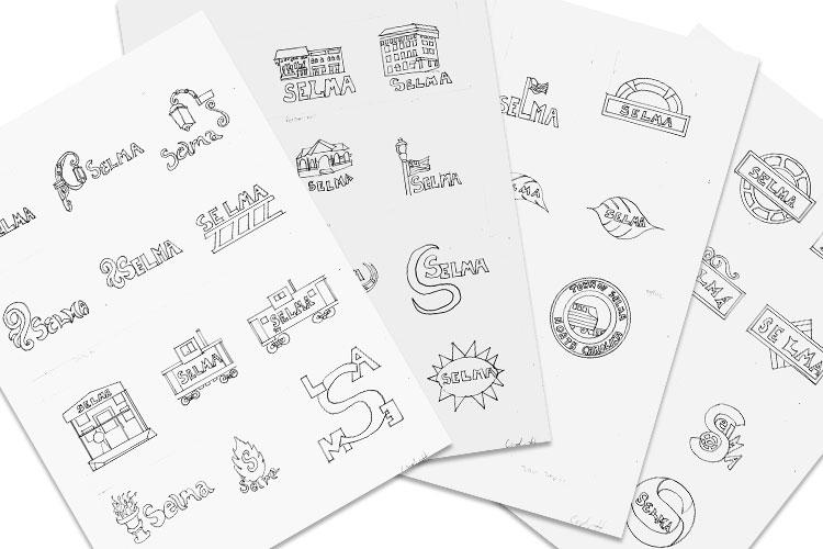 logo thumbnail sketches